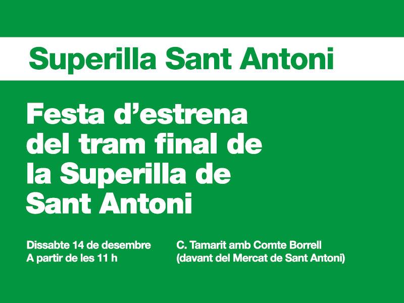Inauguració de la superilla de Sant Antoni a Borrell Tamarit.