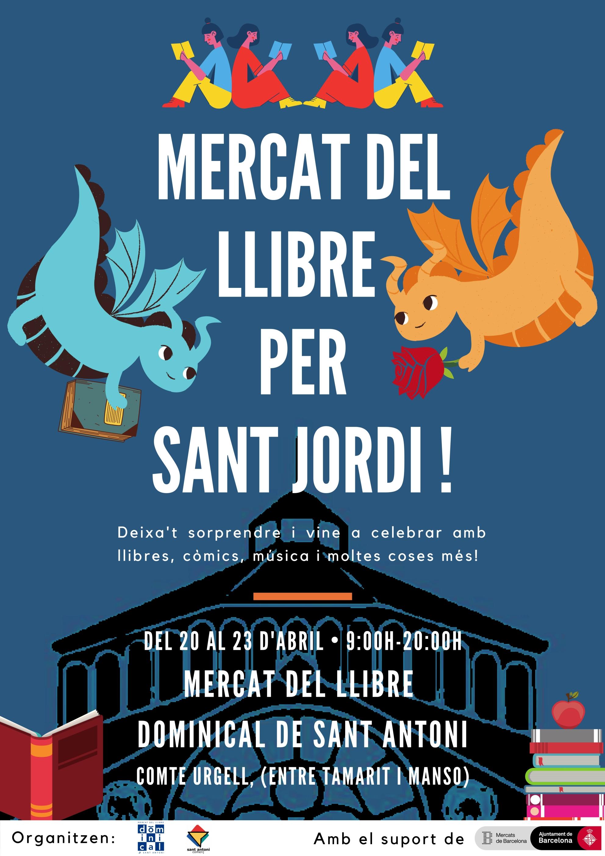 Mercat del Llibre de Sant Antoni per Sant Jordi