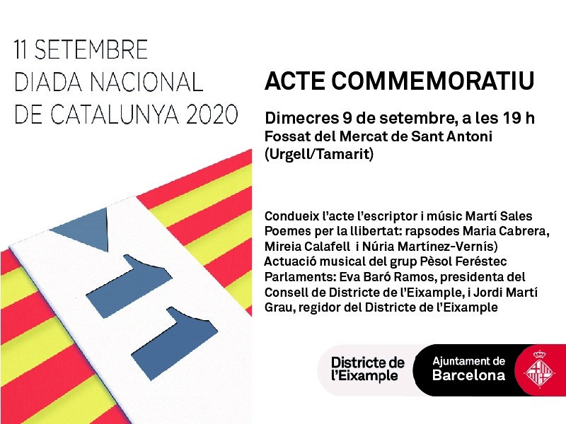 Acte de commemoració de la Diada Nacional de Catalunya