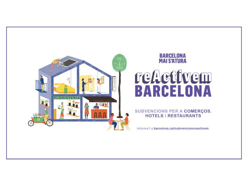 """""""ReActivamos Barcelona"""" con ayudas al comercio, la restauración y los alojamientos turísticos"""